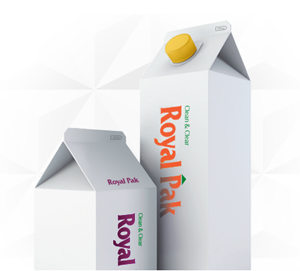 Liquid packaging container (milk carton)